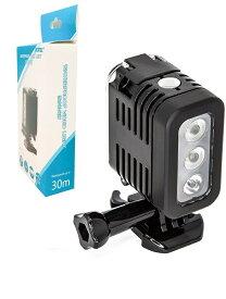 【送料無料】 防水ダイビングライト高電源LEDライト水中ライトfor GoPro hero5/4/3 防水高輝度300LM LEDライト 防水30m 照明撮影ミニ携帯 ダイビングライト