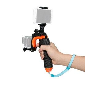 【送料無料】Gopro 対応 3in1自撮り棒 浮きハンドグリップ セルカ棒 フローティング スティック 防水デザイン 浮き グリップ スポーツカメラ用 セルカ棒 防水仕様Gopro Hero 1 2 3 3+ 4 、xiaoyi、 SJCAMなどのカメラ対応