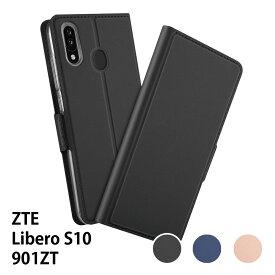 【送料無料】 ZTE Libero S10 901ZT 用スマホケース 手帳型ケース カバー マグネット 定期入れ ポケット シンプル スマホケース
