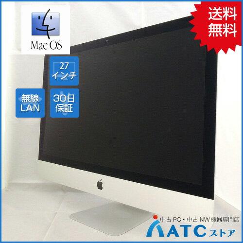 【中古デスクトップパソコン】Apple/iMac/MK462J/A/Core i5 3.2GHz/3TB FusionDrive/メモリ 16GB/27インチ/Mac OS X 10.11【良】