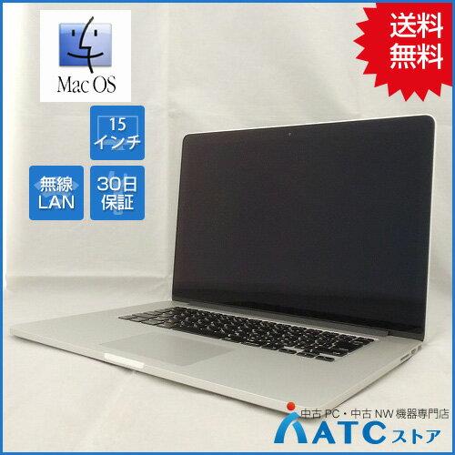 【中古ノートパソコン】Apple/MacBook Pro Retina/MJLQ2J/A/Core i7 2.2GHz/SSD 256GB/メモリ 16GB/15.4インチ/Mac OS X 10.12【優】