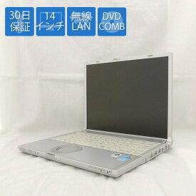 【中古ノートパソコン】Panasonic/Let's note/CF-Y8GWCAJS/14.1インチ/Core2Duo SU9400 1.4GHz/HDD 160GB/メモリ 2GB/COMBドライブ/Windows Vista Business 32bit【良】