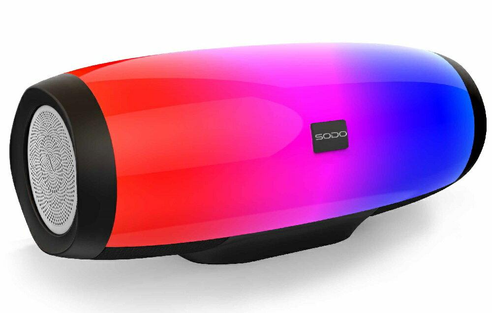 【送料無料】 L1 LIFE ポータブル Bluetooth スピーカー LEDワイヤレススピーカー NFC搭載/TFカード / USB/高音質 / 低音強化 iPhone/iPad / Sony/Samsung/ HTC/スマホとAndroidなど対応 (レッド)