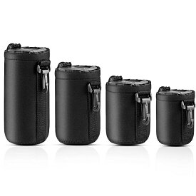 【送料無料】一眼レフカメラ レンズケース レンズポーチ 防水 耐衝撃 レンズ収納袋 直径7.5*10cm 8.5*14cm 8.5*17cm 8.5*22cm  4サイズセット アウトドア 登山