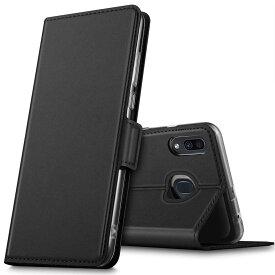 【送料無料】Galaxy A30 SCV43 auケース 手帳型カバー 定期入れ ポケット シンプル スマホケース