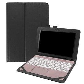 【送料無料】 ASUS TransBook T101HA スタンド機能付き専用ケース 二つ折 カバー 薄型 軽量型 スタンド機能 高品質PUレザーケース☆ブラック