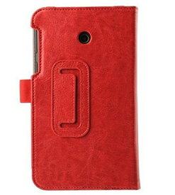 【送料無料】Asus Fonepad 7 FE170CG/FE7010CG 専用保護ケース 光沢タイプ スタンド機能付き 二つ折 カバー 薄型 軽量型 スタンド機能 高品質PUレザーケース☆全6色