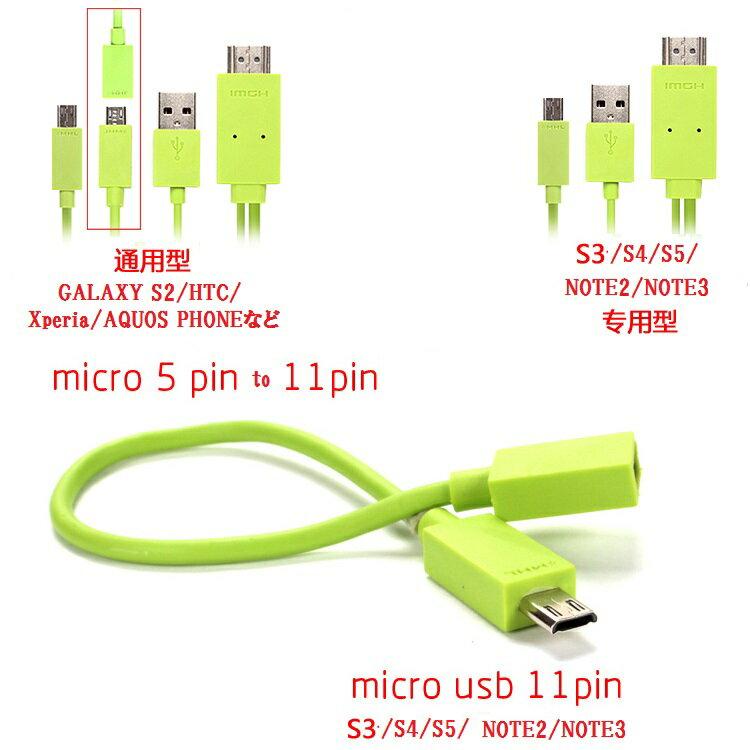 【送料無料】【MHL 全スマホ対応】 MicroUSB to HDMI /USB 変換ケーブル 2m☆6色選択可能(For galaxyS5/S4/S3/S2/NOTE3/2/NOTE/HTC/Xperia/AQUOS Phone/ Arrows/REGZA Phoneなど)【P25Apr15】