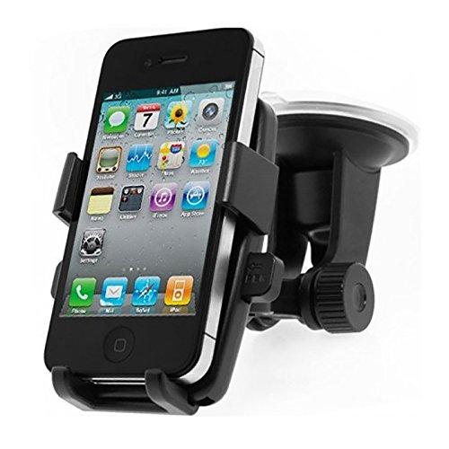 スマートフォン車載ホルダー 携帯ホルダー 360度回転可能 ゲル吸盤式スマホ・携帯 モバイル車載スタンド/カーマウント/車載用マウント iPhone 6 plus / 6 / 5 S / 5 C / 5 Sony Xperia Samsung Galaxy Note II / S4 / S3 / S2 HTC One X DoCoMo等対応( 黄色のセンター)