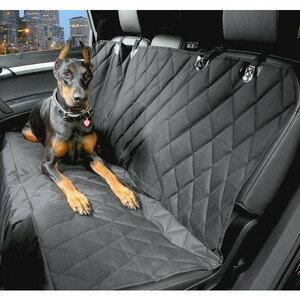 【送料無料・一部地域除く】 大型 ペット対応 ドライブ シート /マット 後部 座席 ブラック 汚れ 防止 カーシート 車 シートカバー 売れ筋 TEC-MDSH001D
