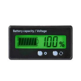 バッテリーモニター バッテリーチェッカー 電圧計 残量計 LCD表示 埋め込み 車 船 キャンプtecc-batmonit[メール便発送]