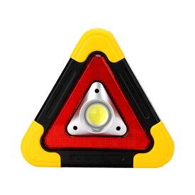 車用 LED 昼夜間兼用型 警告板 反射板 三角表示板 三角停止灯 災害 緊急時 非常時 事故防止 安全 作業灯tecc-keidled
