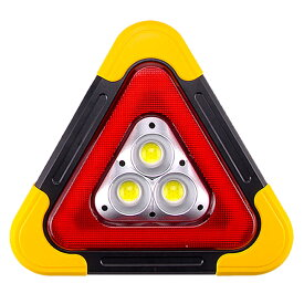 車用 LED 昼夜間兼用型 警告板 反射板 三角表示板 三角停止灯 災害 緊急時 非常時 追突 防止 事故 安全 作業灯tecc-keidled02