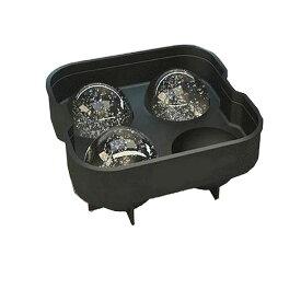 製氷皿 大型ボール 4個作成 型 シリコーン製 フタ付き 氷 丸型 球 お菓子 アイスtecc-silitorei