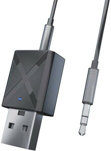 Bluetooth トランスミッター レシーバー 2in1 送信機 受信機 両方対応 テレビ スピーカー iPhone スマートフォン 3.5mm AUX