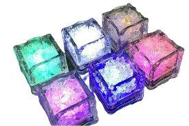 光る氷 氷型ライト キューブ アイス キューブ ライト LED センサーライト インテリア 12個セットtecc-lightice