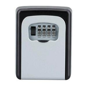 セキュリティ 壁掛式 キーボックス 鍵収納 4桁ダイヤル式 防犯 盗難防止 合鍵 共有 安全 カードキー 車 鍵 メモ tecc-keybox03