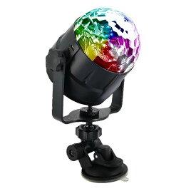 ミラーボール USB ステージライト カラフル水晶 LED スポットライト リモコン付き 音声起動 自走機能 演出 パーティ tecc-miraball