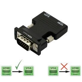 HDMI変換 HDMITO VGA 変換アダプタ d-sub 15ピン HD アダプタ 音声 映像 電源不要 メス オス 3.5mm オーディオケーブル 付属 TEC-TOVGAD[メール便発送・代引不可]