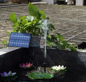 ソーラーポンプ 電気代0円 ソーラーパネルで省エネ仕様 お庭の噴水や池でも使えるソーラー池ポンプ DAR-SP001 【送料無料】