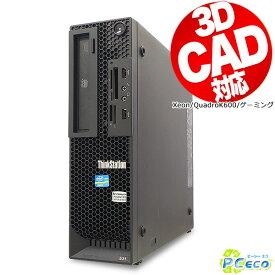 3DCAD対応 ゲーミングPC デスクトップパソコン 中古 Office付き QuadroK600 Windows10 Lenovo ThinkStation E31 Xeon 8GBメモリ 中古パソコン 中古デスクトップパソコン
