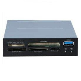 3.5インチベイ内蔵型 USB 3.0 搭載 カードリーダー STW-3016 ブラック