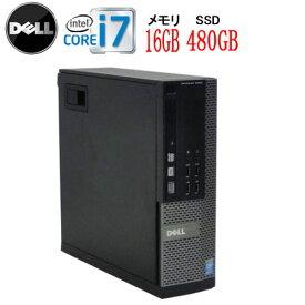 ポイント最大11倍!エントリーして楽天カード決済がお得!9/19 20時から DELL 7020SF Core i7 4770 大容量メモリ16GB DVDマルチ 高速新品SSD512GB WPS Office付き Windows10 Pro 64bit 中古パソコン デスクトップ 0006a3-marR