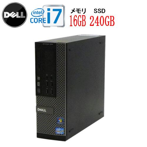 エントリーしてお買い物するとポイント最大9倍!5/25(土)10時から DELL 9010SF Core i7-3770 3.4GHz 大容量メモリ16GB 高速新品SSD256GB DVDマルチ Windows10 Home 64bit USB3.0対応 中古パソコン デスクトップ 0033a-2R