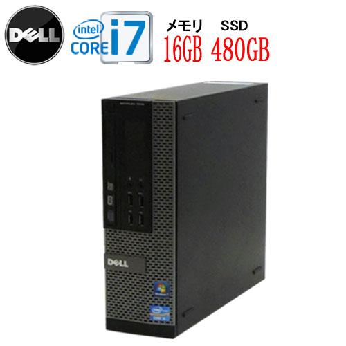 エントリーしてお買い物するとポイント最大9倍!5/25(土)10時から DELL 9010SF Core i7-3770 3.4GHz 大容量メモリ16GB 高速新品SSD512GB DVDマルチ Windows10 Home 64bit USB3.0対応 中古パソコン デスクトップ 0033a-3R