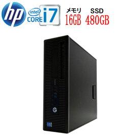 HP 600 G1 SF Core i7 4790(3.6GHz) 大容量メモリ16GB 高速新品SSD512GB DVDマルチ Windows10 Pro 64bit WPS Office付き USB3.0対応 中古パソコン デスクトップ 1531a-3R