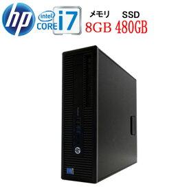 HP 600 G1 SF Core i7 4790 3.6GHz メモリ8GB 高速SSD新品512GB DVDマルチ Windows10 Pro 64bit WPS Office付き USB3.0対応 中古中古パソコン デスクトップ 1531a-4R
