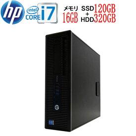 HP 600 G1 SF Core i7 4790 3.6GHz 大容量メモリ16GB 高速SSD新品120GB + HDD320GB DVDマルチ Windows10 Pro 64bit WPS Office付き USB3.0対応 中古中古パソコン デスクトップ 1623a7-mar-R