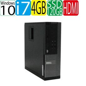 DELL Optiplex 3010SF Core i7 2600(3.4Ghz) HDMI メモリ4GB 新品SSD120GB WPS Office付き Windows10 Home 64bit(MAR) 1627a-2R 中古 中古パソコン デスクトップ