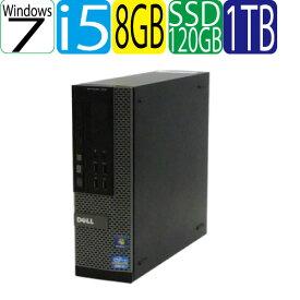 爆速SSD120GB + HDD1TB DELL 7010SF Core i5 3470(3.2GHz) メモリ8GB DVDマルチドライブ WPS Office付き 64Bit Windows7Pro R-d-340-1 USB3.0対応 中古 中古パソコン デスクトップ