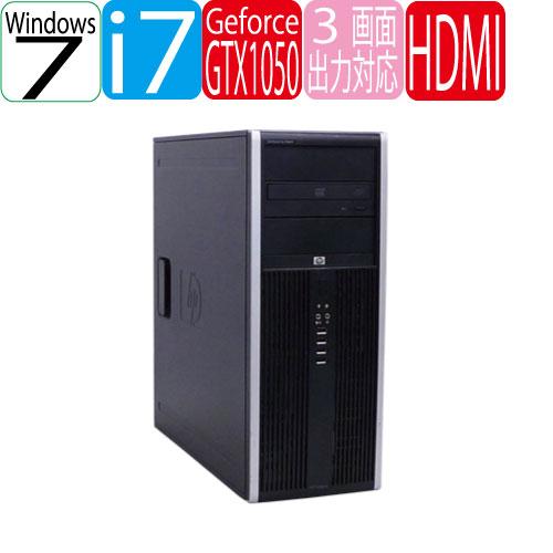 HP 8300 Elite MT Core i7-3770 メモリ4GB HDD500GB DVD-Multi Geforce GTX1050 64Bit Windows7Pro USB3.0対応 中古ゲーミングpc 中古デスクトップ R-dg-201