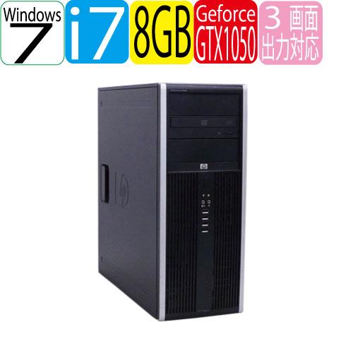 HP 8300 Elite MT Core i7-3770 メモリ8GB HDD500GB DVD-Multi GeforceGTX 1050 64Bit Windows7Pro R-dg-202 USB3.0対応 中古ゲーミングpc 中古デスクトップ
