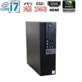 第6世代 DELL Optiplex 7040SF-5050SF Core i7 6700 メモリ16GB 高速新品M.2 Nvme SSD256GB GeForce GT1030 HDMI Windows10 Pro 64bit HDMI 中古パソコン デスクトップ ゲーミングpc 0002ayR