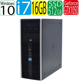 HP 8300 Elite MT Core i7-3770 メモリ16GB SSD新品512GB DVD-ROM GeforceGTX 1050Ti Windows10 Home 64Bit USB3.0対応 HDMI 中古ゲーミングpc 中古デスクトップ 0955x-2R