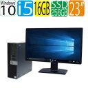 DELL 5040SF Core i5 6500 3.2GHz メモリ16GB 高速新品SSD256GB + HDD1TB DVDマルチドライブ Windows10 Pro 64bit USB…