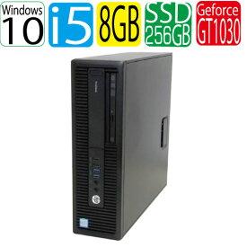 第6世代 HP ProDesk 600 G2 SF Core i5 6500 3.2GHz メモリ8GB SSD新品256GB DVDマルチ Windows10 Pro 64bit WPS Office付き GeForce GT1030 HDMI USB3.0対応 中古 中古パソコン デスクトップ 1463g-2R