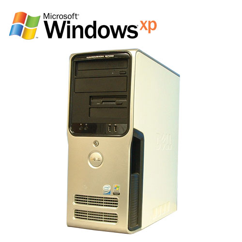 DELL Dimension 9200 Core2 Duo E6400 メモリー1GB DVD-ROM HDD250GB WindowsXP Pro R-d-480 中古パソコン デスクトップパソコン