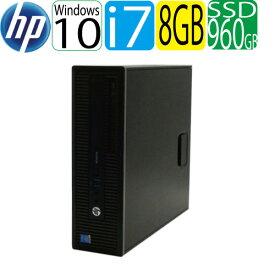 エントリーして楽天カード決済がお得!ポイント最大11倍! HP 600 G1 SF Core i7 4790(3.6GHz) メモリ8GB 高速SSD新品960GB DVDマルチ Windows10 Pro 64bit WPS Office付き USB3.0対応 中古 中古パソコン デスクトップ 1464a-marR
