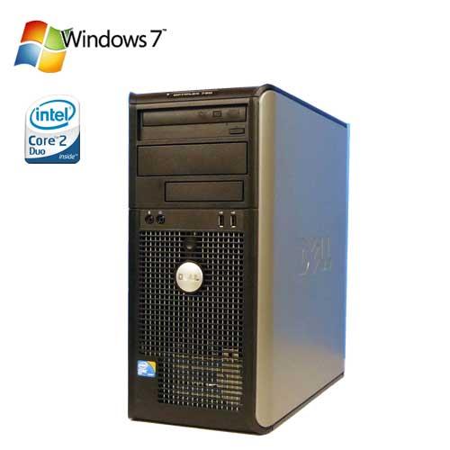 中古パソコン Windows7Pro DELL Optiplex 780MT Core2 Duo E8400 メモリー4GB 160GB DVDマルチ d-234 /R-d-234/中古