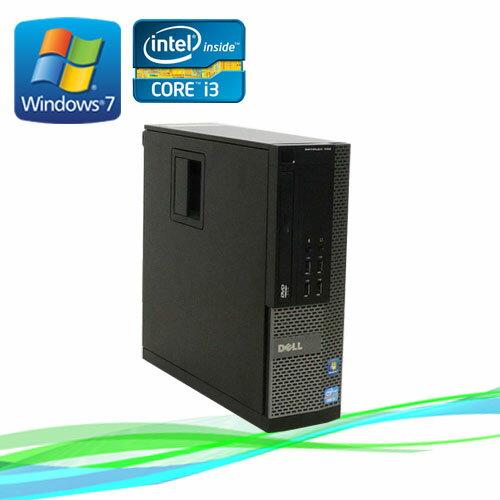 中古パソコン デスクトップ DELL 790SF Core i3 2100 3.1GHz ノートンセキュリティ1年版 メモリ2GB Windows7 Pro /R-d-281 /中古