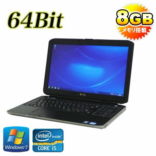 中古 ノートパソコン ノートPC DELL Latitude E5530 15.6液晶 Core i5 3340M 8GB HDD320GB DVDマルチ 無線LAN 64Bit Windows7Pro /ノートパソコン /R-na-068 /中古
