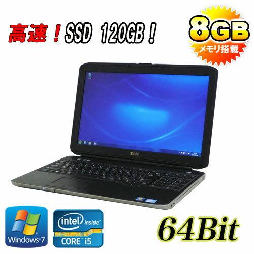 中古 ノートパソコン ノートPC DELL Latitude E5530 15.6液晶 Core i5 3340M 8GB SSD(新品)120GB DVDマルチ 無線LAN 64Bit Windows7Pro /ノートパソコン/R-na-069/中古