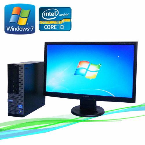 中古パソコン DELL Optiplex790SF 23ワイド液晶 フルHD対応 Core i3-2100 メモリ2GB 250GB DVD-ROM Windows7Pro 32Bit /R-dtb-385/中古
