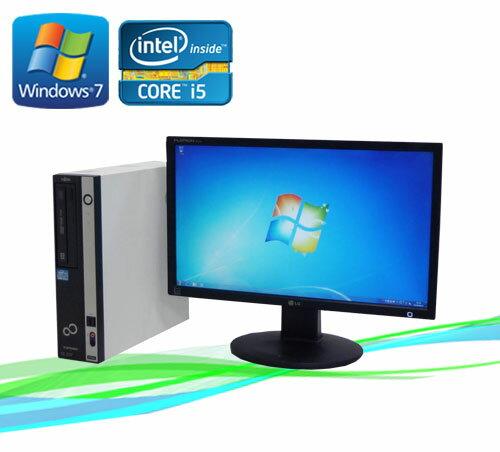 中古パソコン 富士通 ESPRIMO D751 Core i5 2400 3.1GHz 22型ワイドモニター メモリ4GB Windows7 Pro /R-dtb-401 /中古