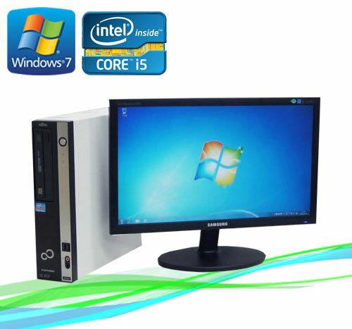 中古パソコン 富士通 ESPRIMO D581 Core i5 2400 3.1GHz 20型ワイドモニター メモリ4GB Windows7 Pro /R-dtb-399 /中古