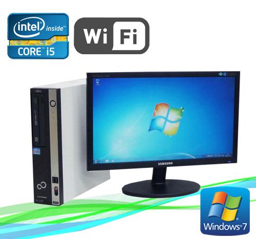 中古パソコン 無線LAN対応 富士通 ESPRIMO D751 Core i5 2400 3.1GHz 20型ワイドモニター メモリ2GB Windows7 Pro /R-dtb-432/中古